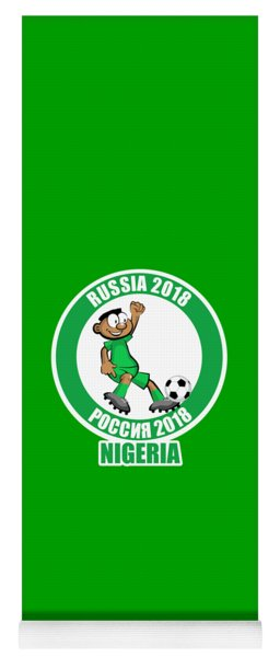 Nigeria In The Soccer World Cup Russia 2018 Yoga Mat