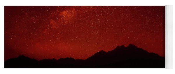 Night Above Sahara Mountains 2 Yoga Mat