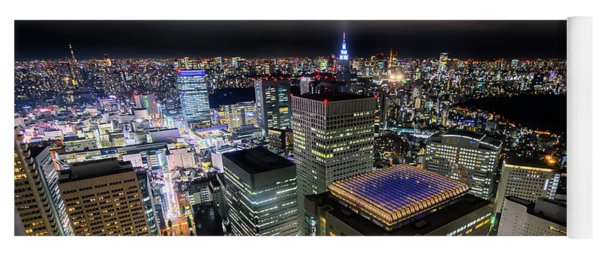 Night At Tokyo Metropolitan Government Building Yoga Mat