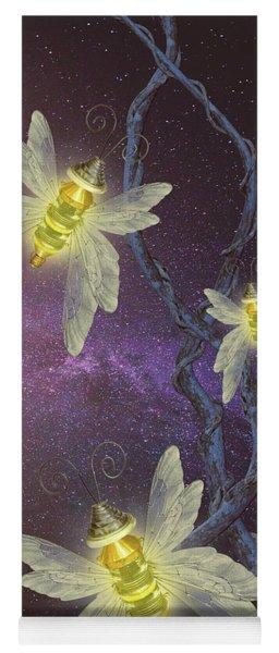 Night Butterflies Yoga Mat