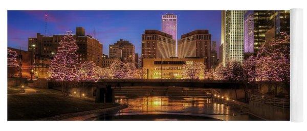 Night Cityscape - Omaha - Nebraska Yoga Mat