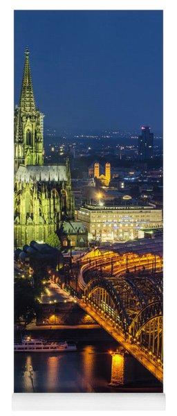 Night Falls Upon Cologne 1 Yoga Mat