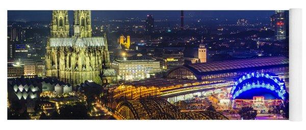 Night Falls Upon Cologne 2 Yoga Mat