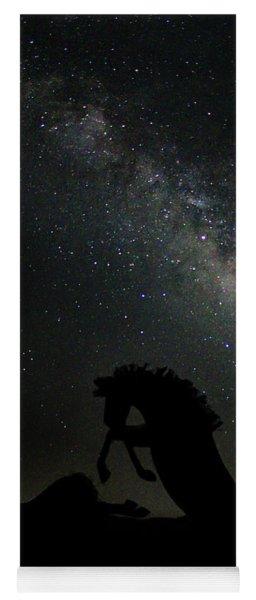 Night Horse Yoga Mat
