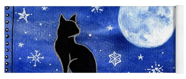 Night Patrol At Wintertime Yoga Mat