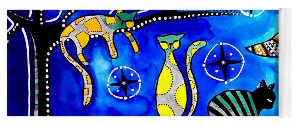 Night Shift - Cat Art By Dora Hathazi Mendes Yoga Mat