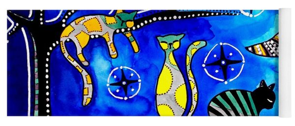 Night Shift - Cat Art By Dora Hathazi Mendes Yoga Mat