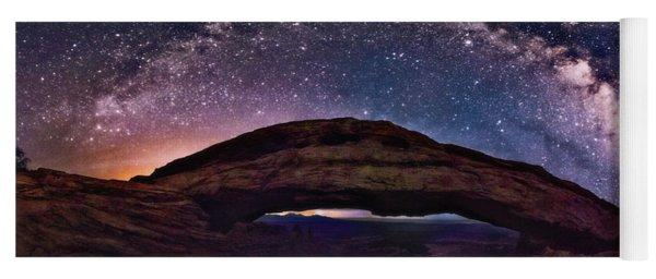 Night Sky Over Mesa Arch Utah Yoga Mat