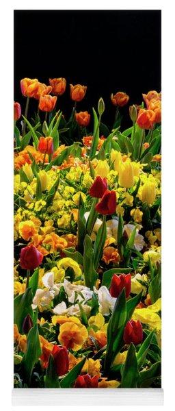 Night Tulips Yoga Mat
