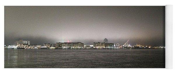 Night View Ocean City Downtown Skyline Yoga Mat