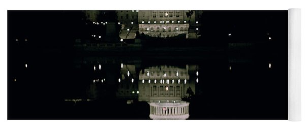 Night View Of The Capitol Yoga Mat