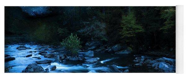Nighttime On The Cheoah River  Yoga Mat
