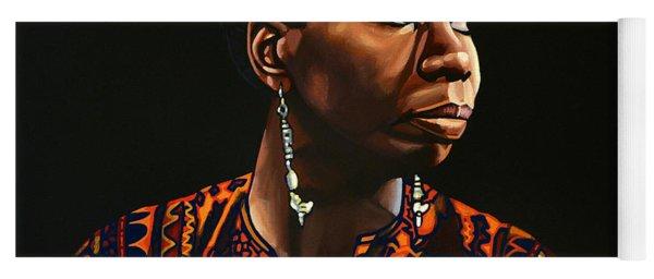 Nina Simone Painting Yoga Mat