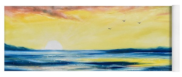 No Stress - Sunset Painting Yoga Mat