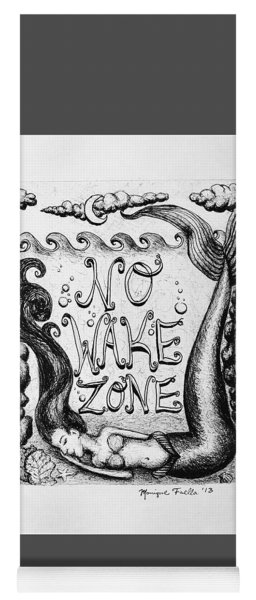 No Wake Zone, Mermaid Yoga Mat