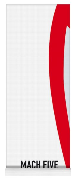 No008 My Speed Racer Minimal Movie Car Poster Yoga Mat