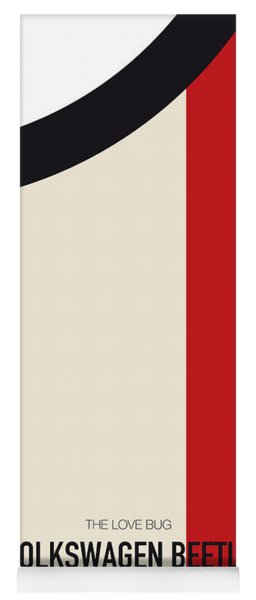 No014 My Herbie Minimal Movie Car Poster Yoga Mat