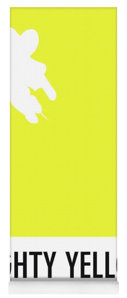 No02 My Minimal Color Code Poster Mighty Mouse Yoga Mat