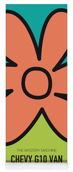 No020 My Scooby Doo Minimal Movie Car Poster Yoga Mat