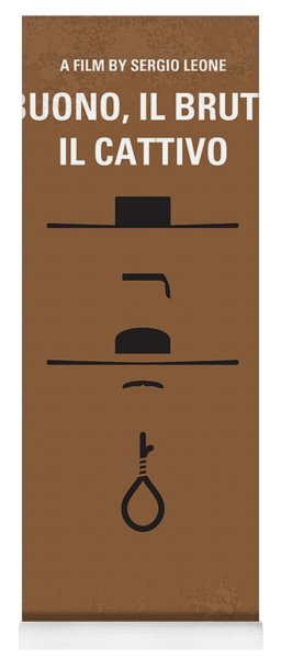 No042 My Il Buono Il Brutto Il Cattivo Minimal Movie Poster Yoga Mat