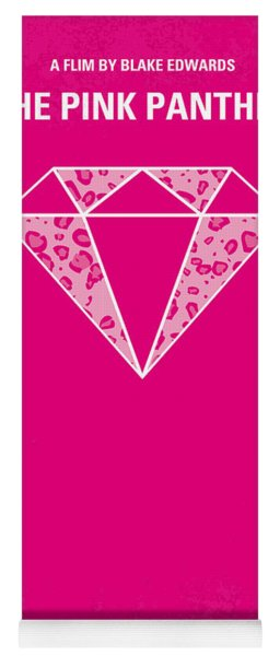 No063 My Pink Panther Minimal Movie Poster Yoga Mat