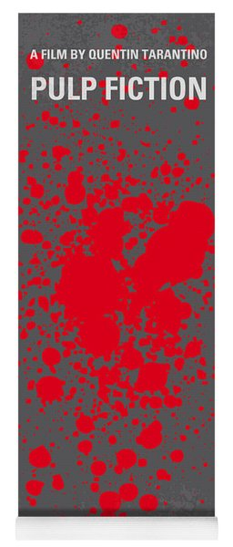 No067 My Pulp Fiction Minimal Movie Poster Yoga Mat