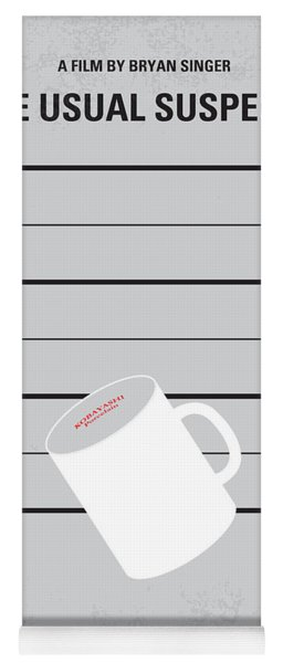 No095 My The Usual Suspects Minimal Movie Poster Yoga Mat