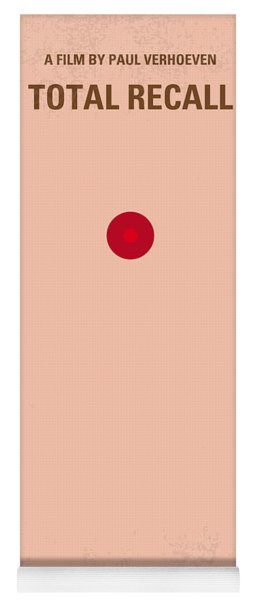 No097 My Total Recall Minimal Movie Poster Yoga Mat