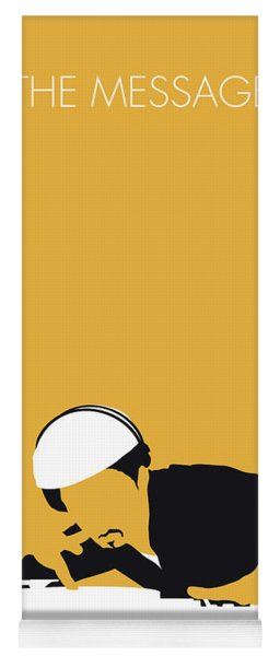 No114 My Grandmaster Flash Minimal Music Poster Yoga Mat