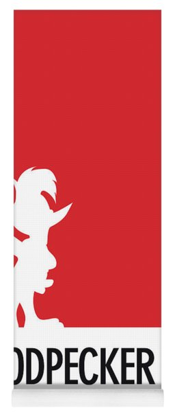 No12 My Minimal Color Code Poster Woody Woodpecker Yoga Mat