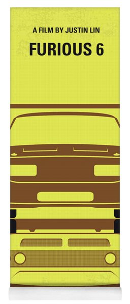 No207-6 My Furious 6 Minimal Movie Poster Yoga Mat