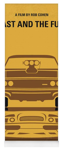 No207 My The Fast And The Furious Minimal Movie Poster Yoga Mat