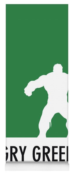 No22 My Minimal Color Code Poster Hulk Yoga Mat