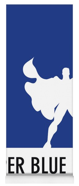 No23 My Minimal Color Code Poster Superman Yoga Mat