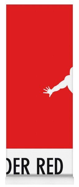 No24 My Minimal Color Code Poster Spiderman Yoga Mat
