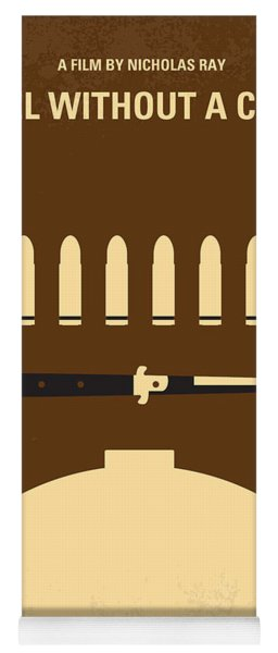No318 My Rebel Without A Cause Minimal Movie Poster Yoga Mat