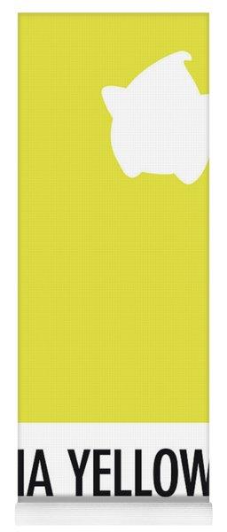 No40 My Minimal Color Code Poster Luma Yoga Mat