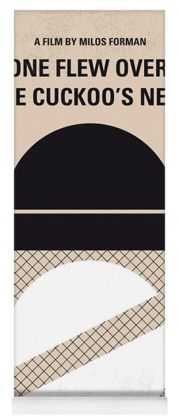 No454 My One Flew Over The Cuckoos Nest Minimal Movie Poster Yoga Mat