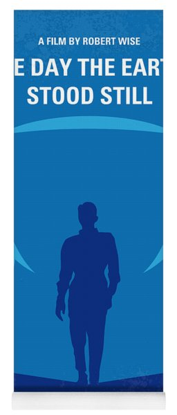 No514 My The Day The Earth Stood Still Minimal Movie Poster Yoga Mat