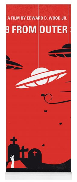 No518 My Plan 9 From Outer Space Minimal Movie Poster Yoga Mat