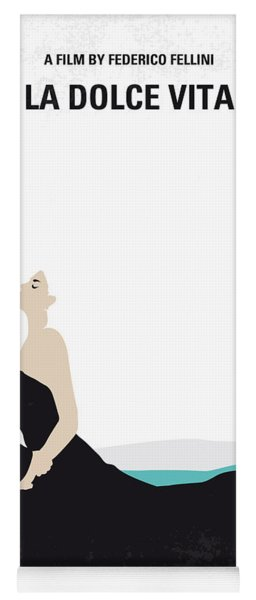 No529 My La Dolce Vita Minimal Movie Poster Yoga Mat
