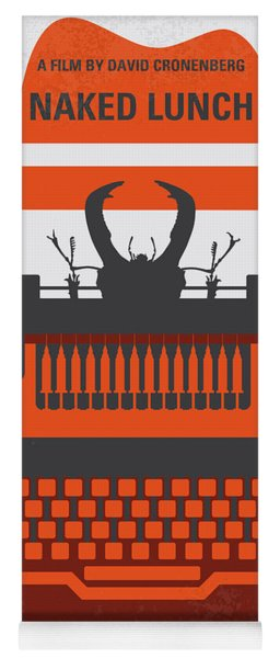 No534 My Naked Lunch Minimal Movie Poster Yoga Mat