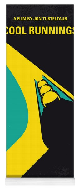 No538 My Cool Runnings Minimal Movie Poster Yoga Mat