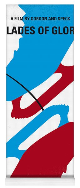 No562 My Blades Of Glory Minimal Movie Poster Yoga Mat