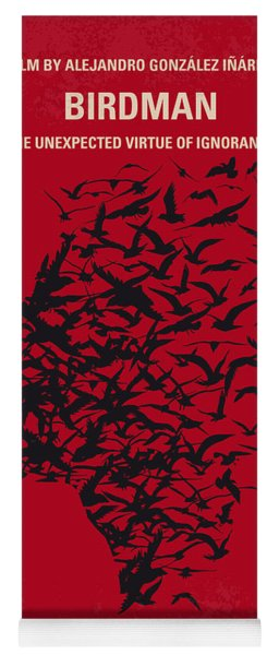 No604 My Birdman Minimal Movie Poster Yoga Mat