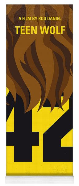 No607 My Teen Wolf Minimal Movie Poster Yoga Mat