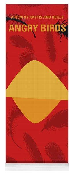 No658 My Angry Birds Movie Minimal Movie Poster Yoga Mat