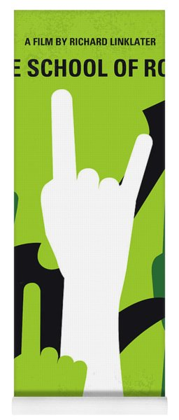 No668 My The School Of Rock Minimal Movie Poster Yoga Mat
