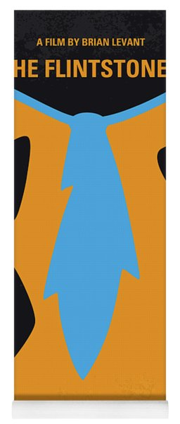 No669 My The Flintstones Minimal Movie Poster Yoga Mat