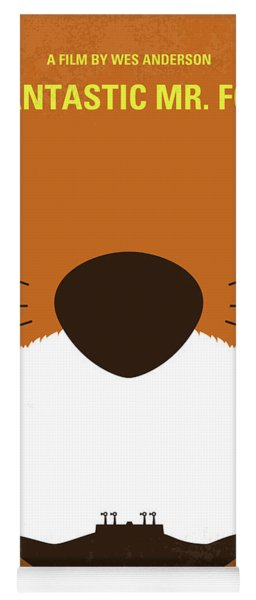 No673 My Fantastic Mr Fox Minimal Movie Poster Yoga Mat